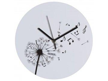 hodiny pampeliška s notami