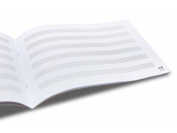 notový sešit A5 pampeliška s notami