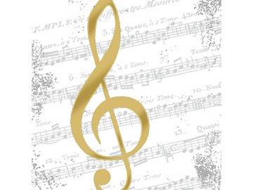 ubrousky I love music zlatý