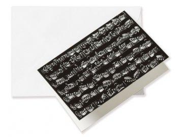 Přání do obálky PARTITURA černá