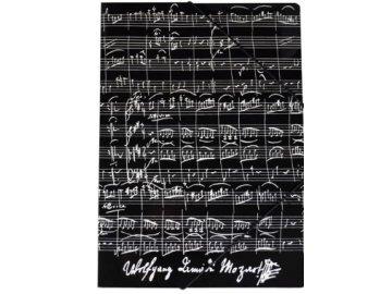 desky partitura mozart černé