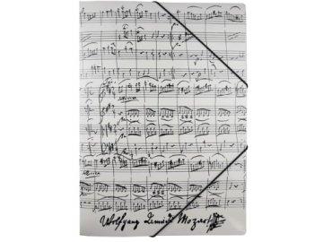 desky partitura mozart bílé