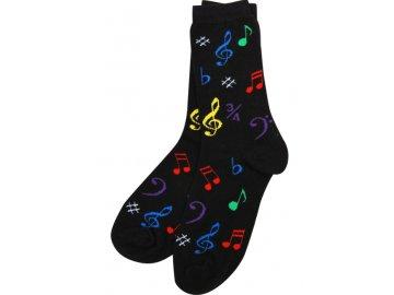 Ponožky HUDBA dámské černé