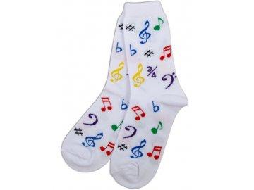 Ponožky HUDBA dámské bílé