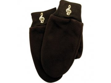 Palčáky houslový klíč černé