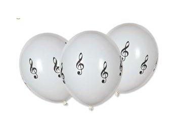 Nafukovací balónek s houslovými klíči bílý