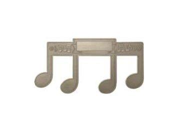 držák na listy hudební motivy stříbrný