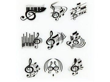 silikonová razítka houslové klíče