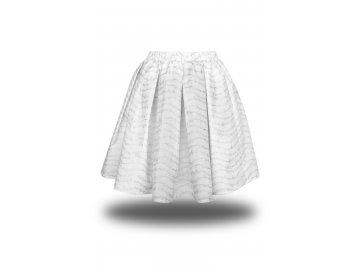 Bavlněná bílá sukně se stříbrnou partiturou