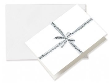Přání do obálky se stužkou Partitura