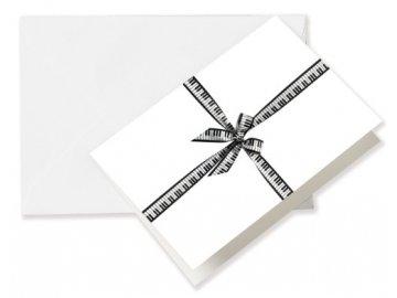 Přání do obálky se stužkou Klaviatura