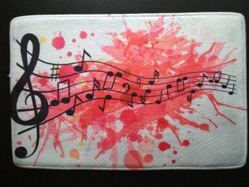 Předložka do koupelny MUSIC RED