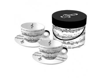 Hrnky ANDANTE cappuccino v dárkové krabičce