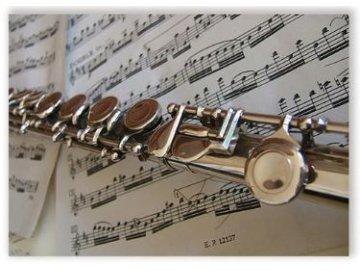 pohlednice příčná flétna
