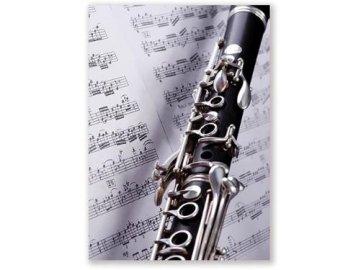 pohlednice klarinet