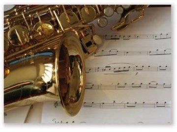 pohlednice saxofon