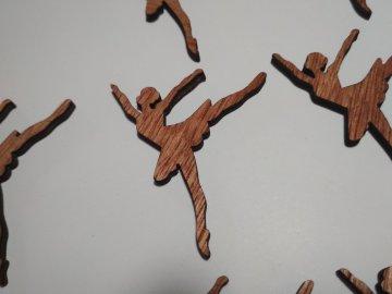 Sada dřevěných výřezů BALETKA, 10 ks (2)