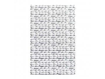 Kuchyňská utěrka partitura ARPEGGIO, bílo černá