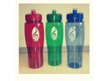 Plastová sportovní lahev s pítkem zelená