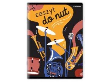 notový sešit music score A4