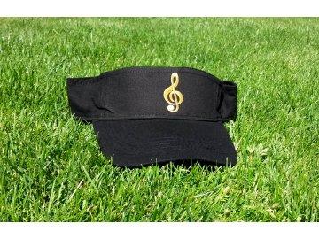 Černý kšilt s houslovým klíčem