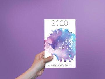 Diář 2020 Hudba je můj život
