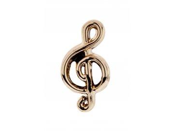Přívěsek na náramek houslový klíč, zlatý