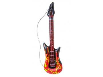 Nafukovací kytara rock plameny