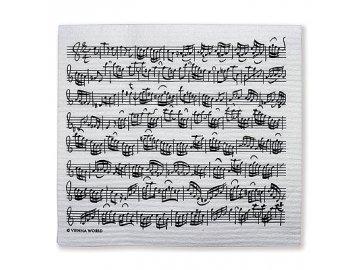 hudební houbová utěrka na nádobí Bach