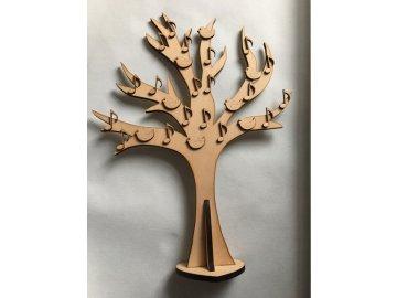 Dřevěný strom života s notami