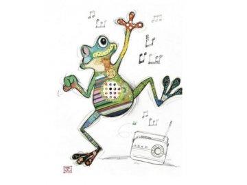Přání do obálky žába tanečnice