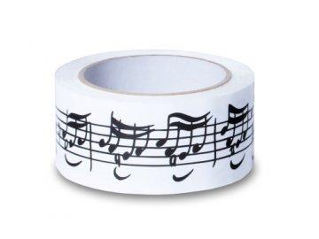 Lepící páska s notami