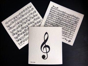Houbová utěrka - partitura Mozart
