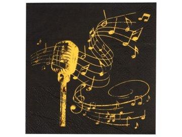 Ubrousky mikrofon černé