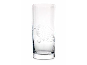 Broušená sklenice s partiturou na nealkoholické nápoje, 300 ml