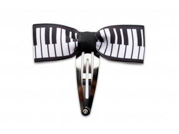 Sponka do vlasů s mašlí klaviatura