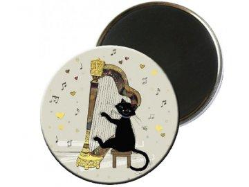 Magnet kočka harfistka