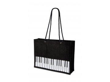 Jutová taška s klaviaturou černá (1)
