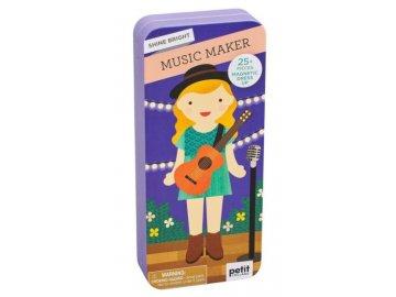 magnetické puzzle Muzikantka