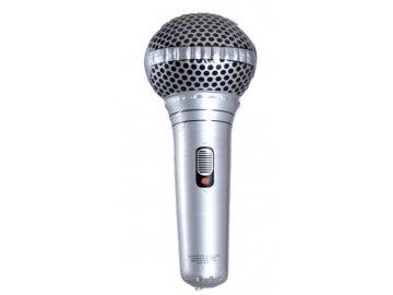 Nafukovací mikrofon stříbrný