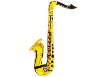 Nafukovací saxofon, žlutý