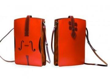 kožená kabelka housle