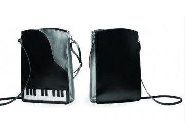 kožená kabelka klavír