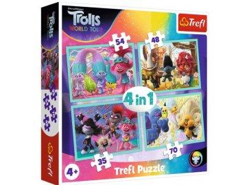 Puzzle Trollové 2 Světové turné 4v1