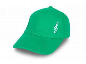 Kšiltovka HOUSLOVÝ KLÍČ zelená