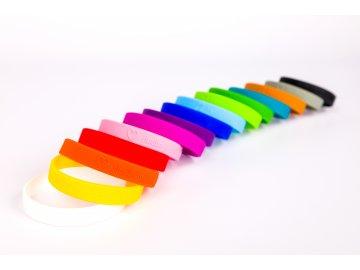 Silikonový náramek HUDBA JE MŮJ ŽIVOT barevný (1)