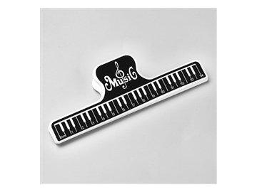 Klipsna na noty s klaviaturou a pravítkem (1)