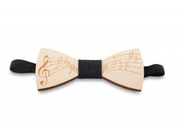Motýlek s partiturou dřevěný (1)