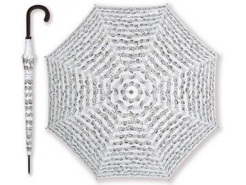 Deštník PARTITURA BACH bílý, dlouhý