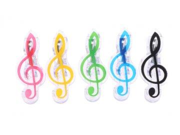 klipsna na noty houslový klíč